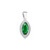 Emerald \ Rhodium-plated
