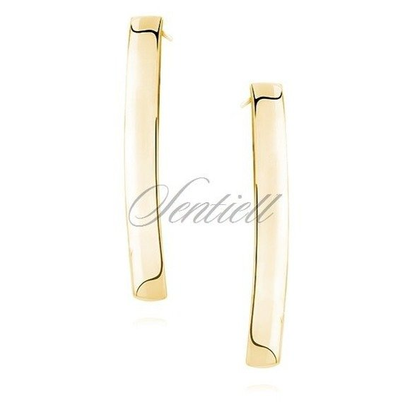 Silver (925) earrings. gold-plated