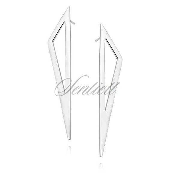 Silver (925) earrings - triangle