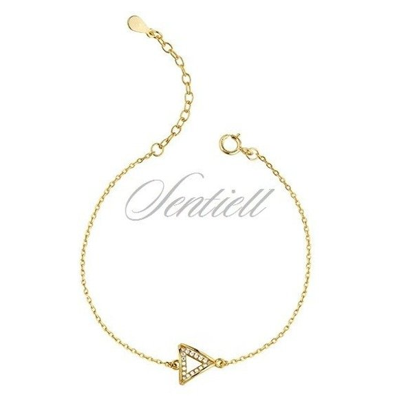 Silver (925) gold-plated bracelet - triangle with zirconia